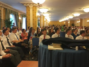 The mission conference with Elder Bednar on April 28, 2015.  Photo courtesy of Sorella Marsh's blog.