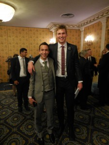 Anziano Eric Mika, a BYU basketball player and missionary in our mission.