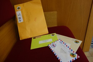 Letters that I got from the mission office on transfer day.