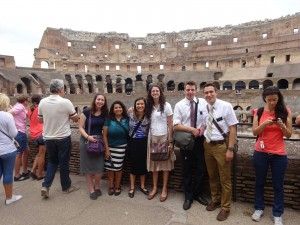 Roma 1 District at the Colosseum, June 15, 2015.  (Photo from Sorella Kennedy's blog)