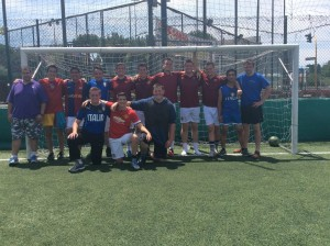 Rome Soccer, June 2015.  Includes players serving in Rome from both zones.  (from Anziano Blazzard's blog)