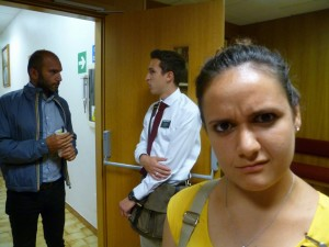 With Anziano Garrett. He didn't know I was being a creep.  (from Sorella Battezzato's blog)