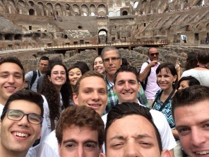 Rome East Zone selfie inside the Colloseum (with a few random tourists thrown in as well)