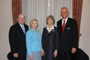 L to R:  Elder Cook, Sister Cook, Sister Waddoups, President Waddoups (photo from Sister Waddoups' blog), July 5, 2015
