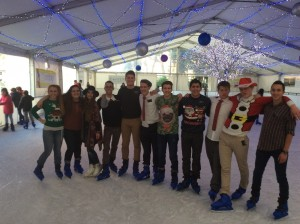 Ice skating in Palermo, Christmas eve, 2015 (courtesy of Sorella Barazoto's blog)