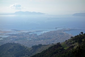 View of Tràpani from Erice, Sicily