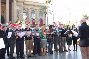 Caroling in Palermo, Dec. 24, 2015