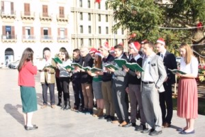 Caroling in Palermo, Dec. 24, 2015