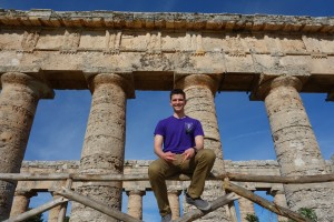 Anziano Spencer at the ruins of Segesta, Sicily