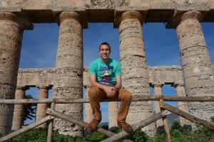 At the ruins of Segesta, Sicily