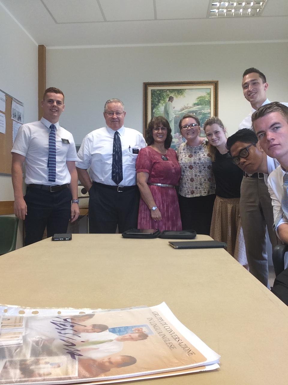 Catania missionaries, June, 2016