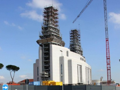 Rome Italy Temple under construction